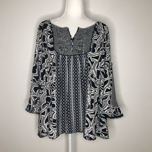 Crown & Ivy tunic top, size XL